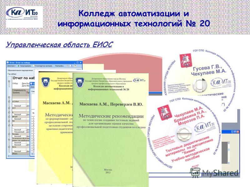 Колледж автоматизации и информационных технологий 20 Управленческая область ЕИОС