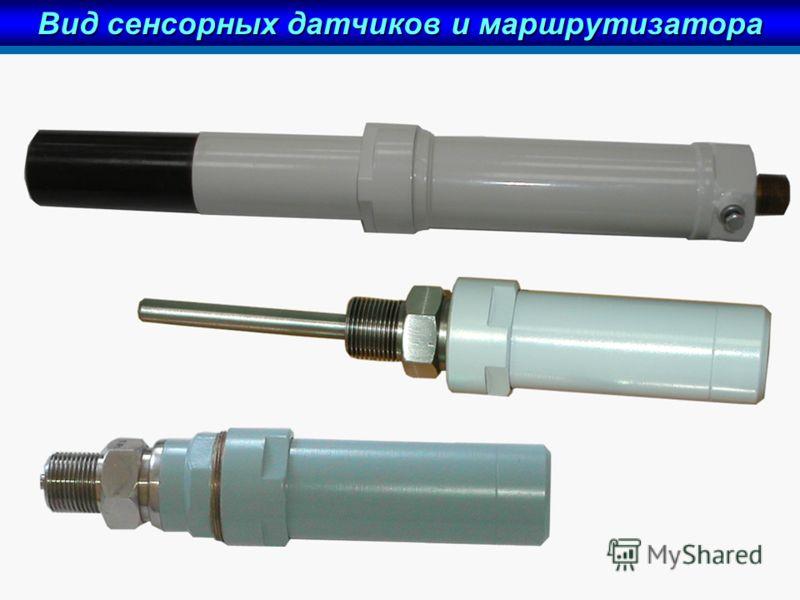 Вид сенсорных датчиков и маршрутизатора