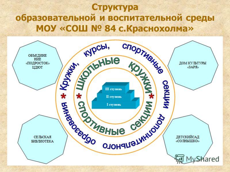Структура образовательной и воспитательной среды МОУ «СОШ 84 с.Краснохолма»