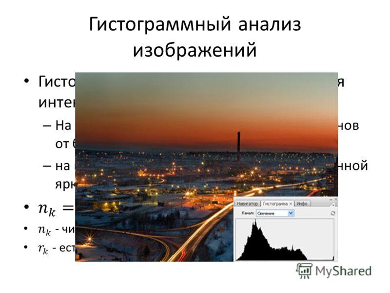 Гистограммный анализ изображений