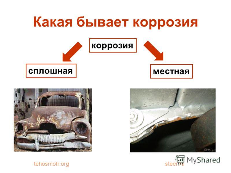 Какая бывает коррозия коррозия сплошная местная tehosmotr.orgsteer.ru
