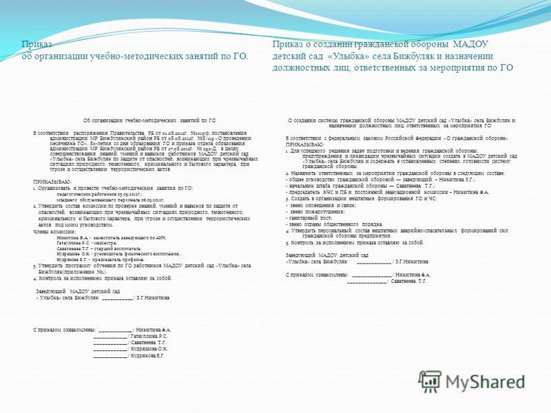 образец приказ о назначении ответственного по го и чс - фото 11