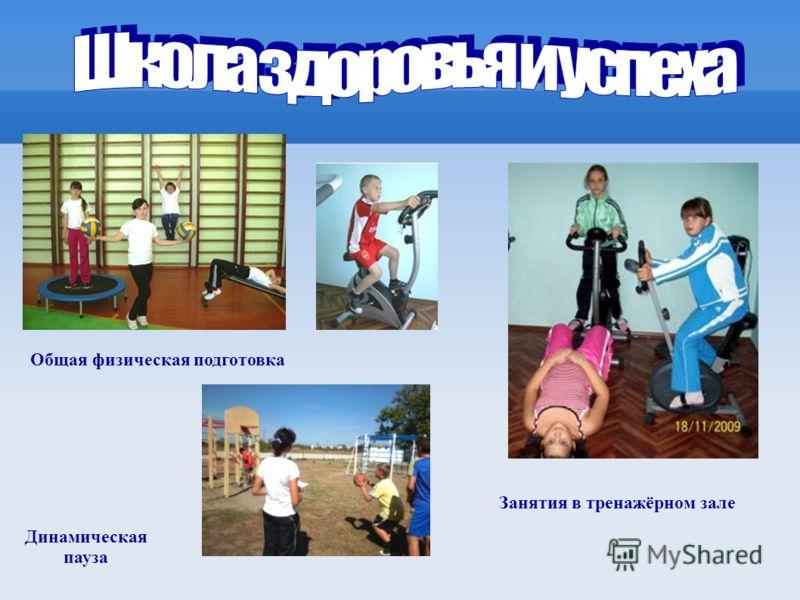 Общая физическая подготовка Занятия в тренажёрном зале Динамическая пауза