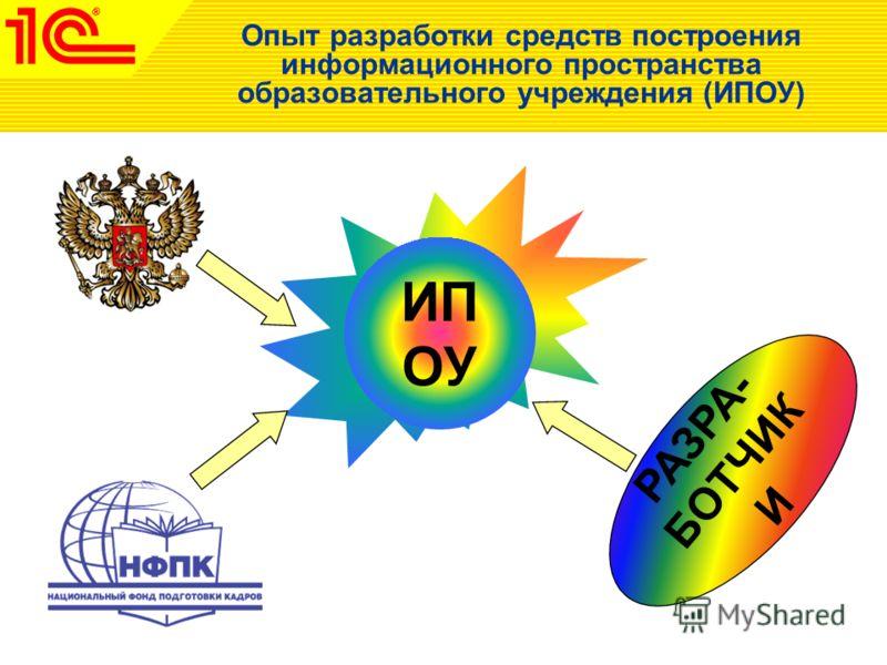 Опыт разработки средств построения информационного пространства образовательного учреждения (ИПОУ) ИП ОУ РАЗРА- БОТЧИК И ИП ОУ