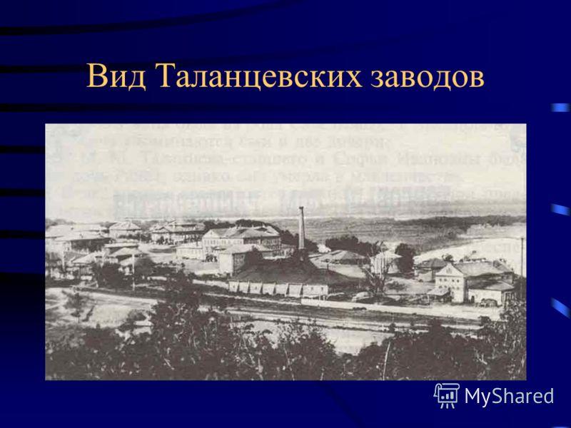 Вид Таланцевских заводов