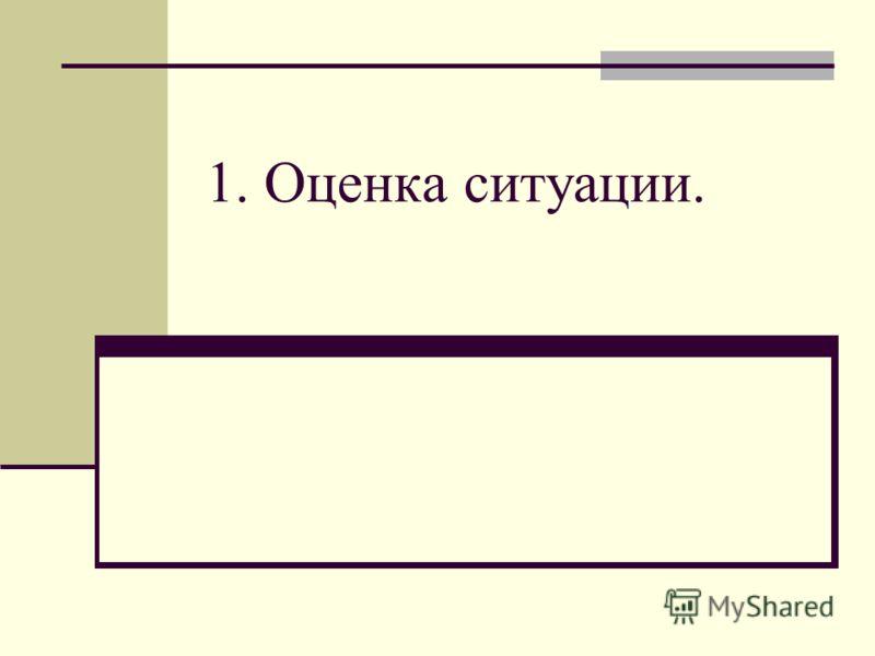 1. Оценка ситуации.