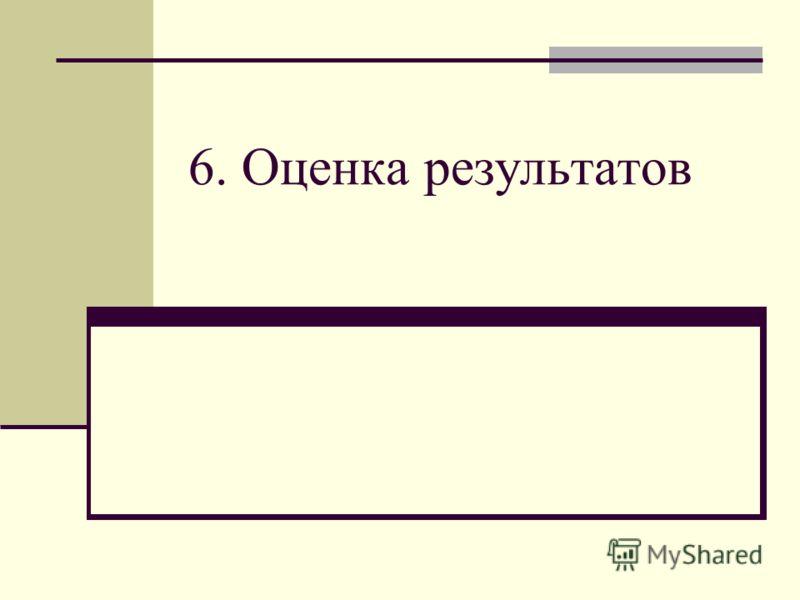 6. Оценка результатов