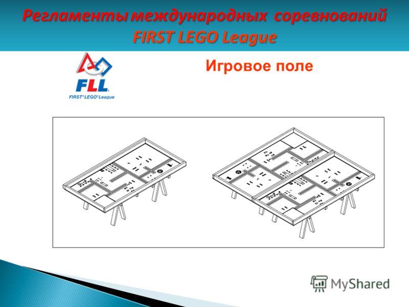 Игровое поле Регламенты международных соревнований FIRST LEGO League