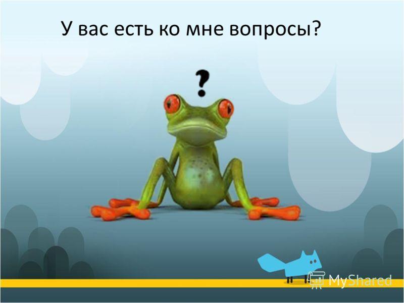 У вас есть ко мне вопросы?