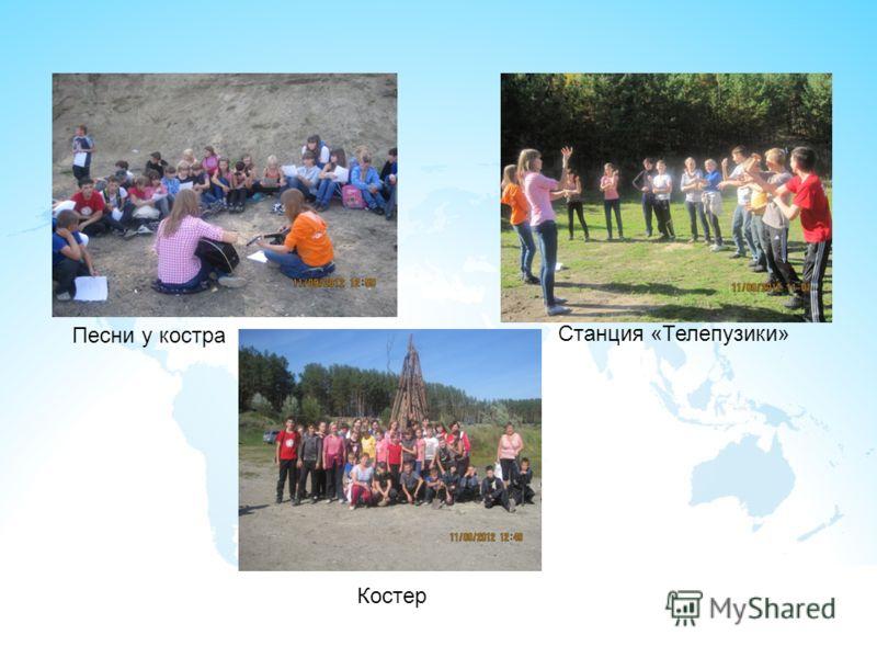 Станция «Телепузики» Песни у костра Костер