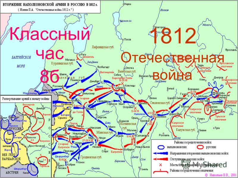 1812 Отечественная война Классный час 8б