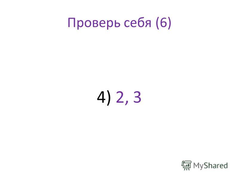 Проверь себя (6) 4) 2, 3