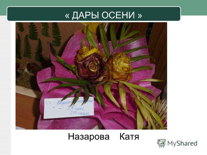 « ДАРЫ ОСЕНИ » Назарова Катя