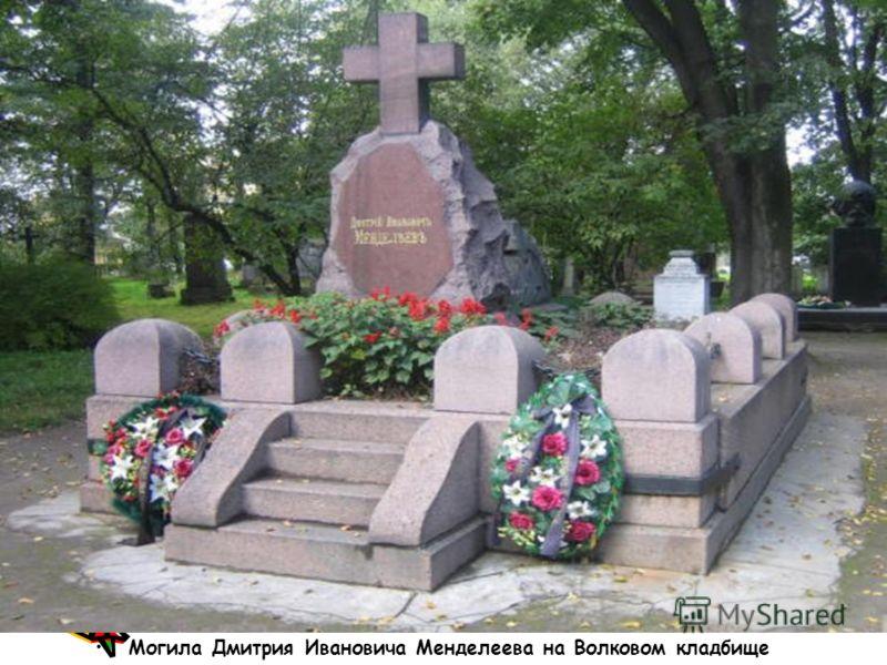 Могила Дмитрия Ивановича Менделеева на Волковом кладбище