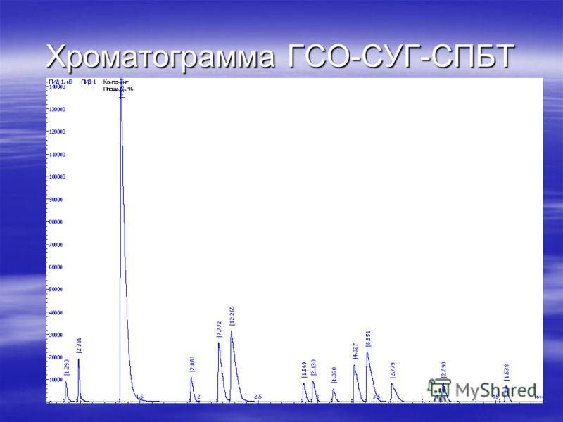 Хроматограмма ГСО-СУГ-СПБТ