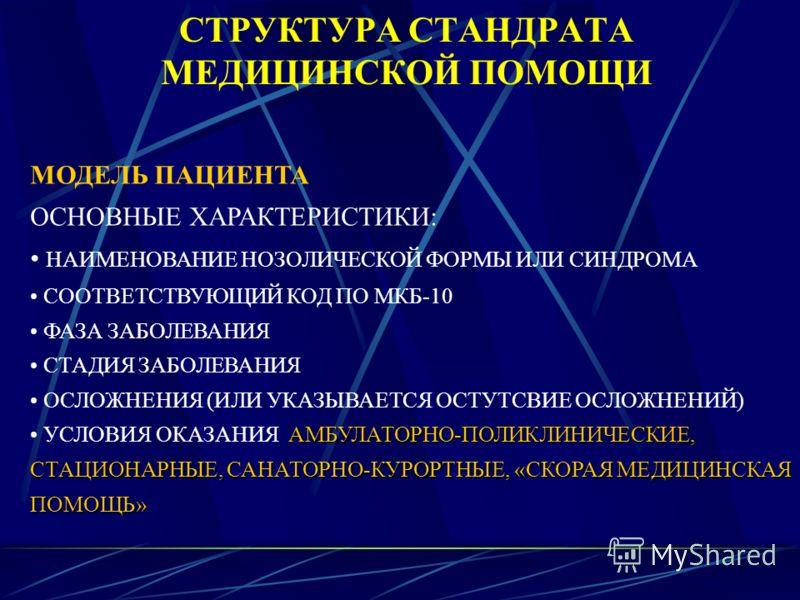 МЕТОДОЛОГИЯ РАЗРАБОТКИ СТАНДРАТОВ МЕДИЦИНСКОЙ ПОМОЩИ ОСНОВА ДЛЯ ФОРМИРОВАНИЯ СТАНДАРТОВ МКБ-10 ОСНОВА ДЛЯ ФОРМИРОВАНИЯ МОДЕЛЕЙ МАТРИЦА ОСНОВА ДЛЯ ФОРМИРОВАНИЯ ПЕРЕЧНЕЙ МЕДИЦИНСКИХ УСЛУГ НОМЕНКЛАТУРА РАБОТ И УСЛУГ В ЗДРАВООХРАНЕНИИ ГОСУДАРСТВЕННЫЙ РЕЕ