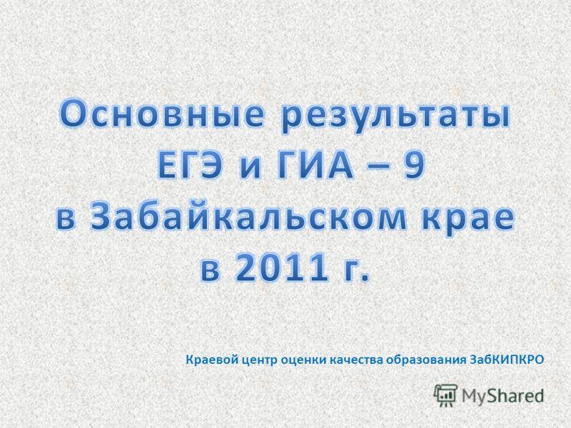 Краевой центр оценки качества образования ЗабКИПКРО