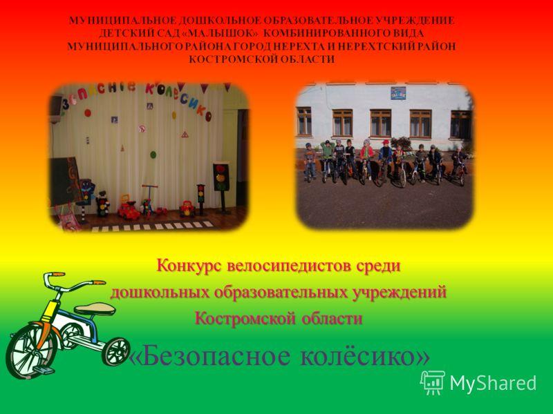 Конкурс велосипедистов среди дошкольных образовательных учреждений Костромской области « Безопасное колёсико »