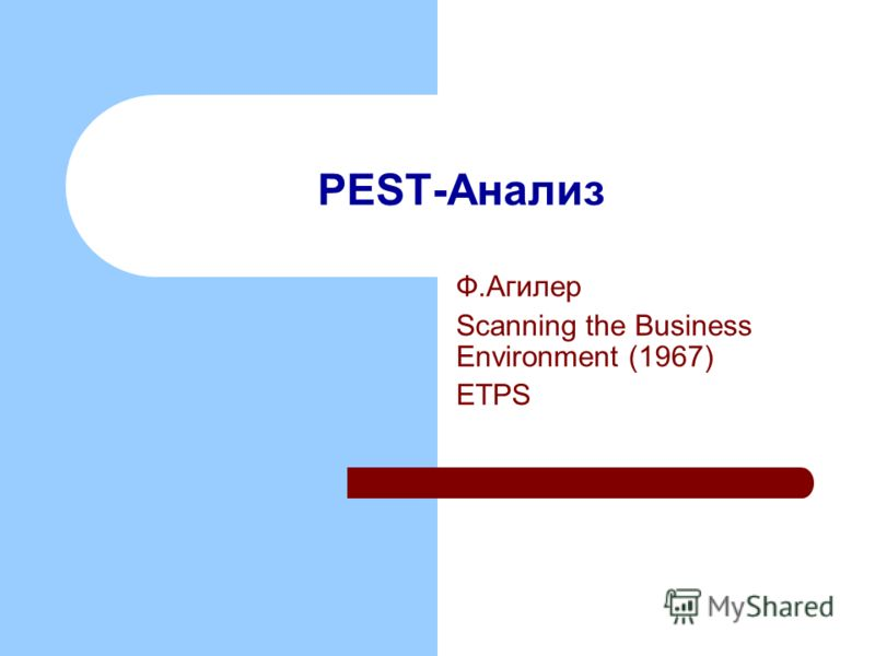 PEST-Анализ Ф.Агилер Scanning the Business Environment (1967) ETPS