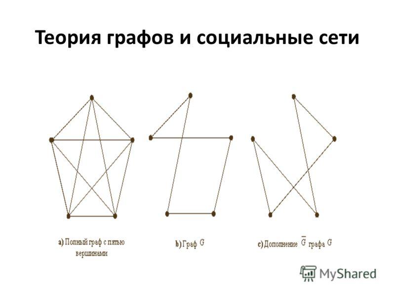 Теория графов и социальные сети