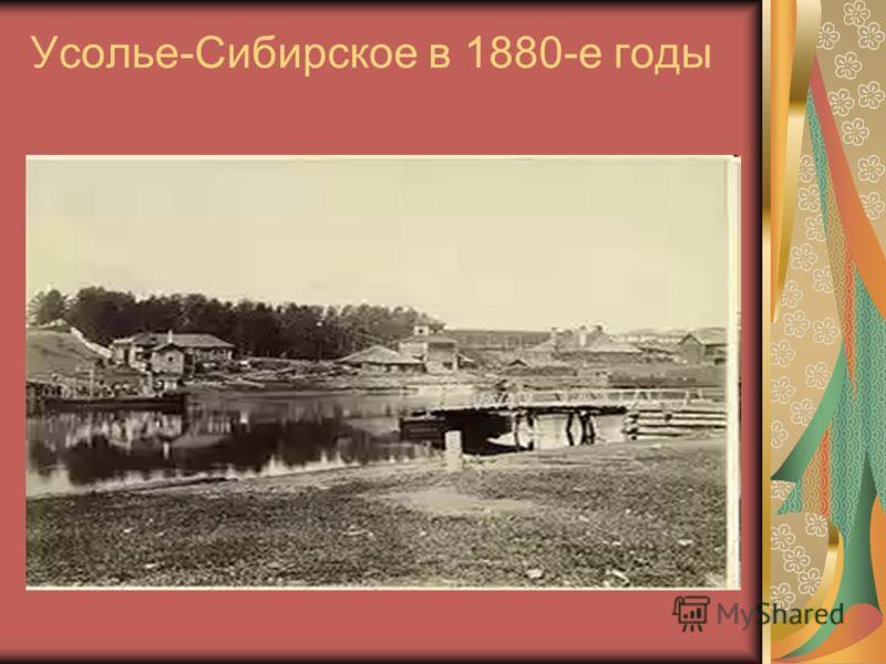 Усолье-Сибирское в 1880-е годы