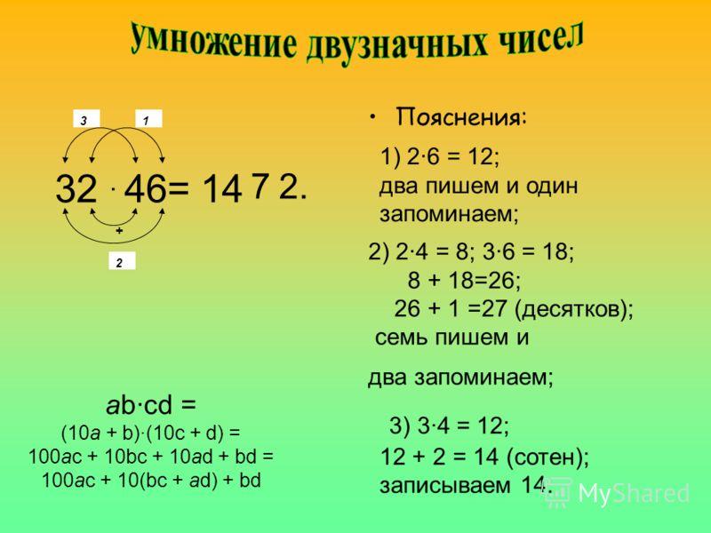 1. Умножение двузначных чисел 2. Возведение Возведение в квадрат 3. Возведение в квадрат чисел, оканчивающихся на пять 4. Извлечение квадратного корня из полных квадратов 5. Нахождение приближенного значениязначения корня 6. Извлечение кубического ко