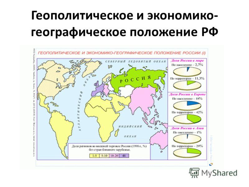 Геополитическое и экономико- географическое положение РФ
