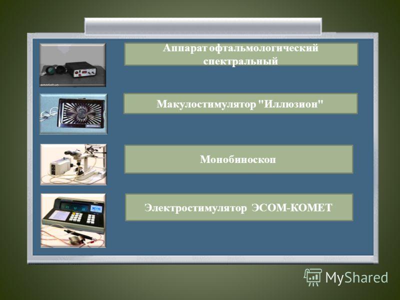 Аппарат офтальмологический спектральный Макулостимулятор Иллюзион Монобиноскоп Электростимулятор ЭСОМ-КОМЕТ