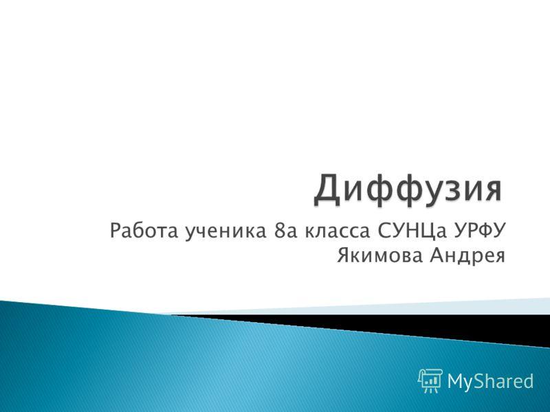 Работа ученика 8а класса СУНЦа УРФУ Якимова Андрея