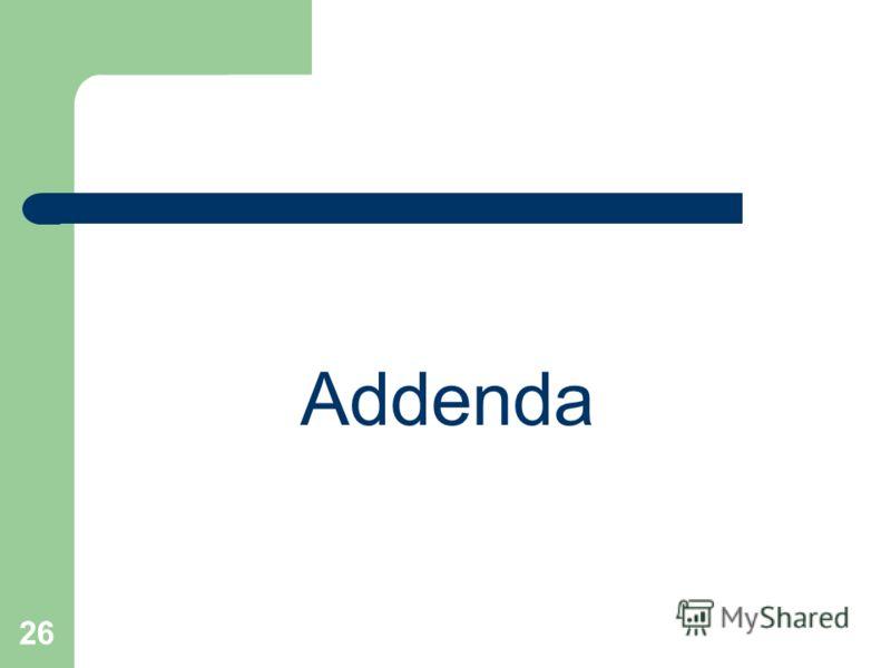 26 Addenda