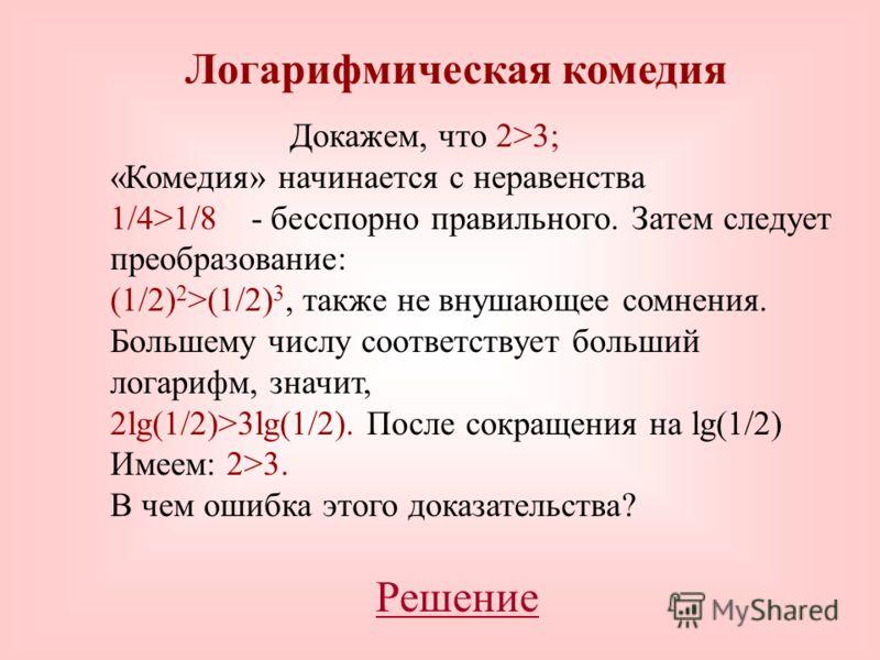 Действие - возведение в степень -имеет два обратных. Если a b =c, то отыскание a есть одно обратное действие – извлечение корня; нахождение же b – другое, логарифмирование. Для чего были придуманы логарифмы? Конечно, для ускорения и упрощения вычисле