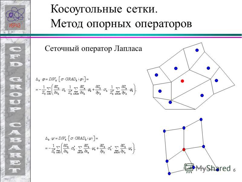 6 Косоугольные сетки. Метод опорных операторов Сеточный оператор Лапласа