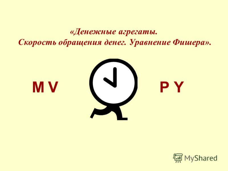 «Денежные агрегаты. Скорость обращения денег. Уравнение Фишера». MVPY