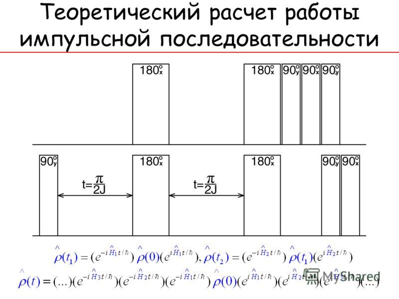 Теоретический расчет работы импульсной последовательности