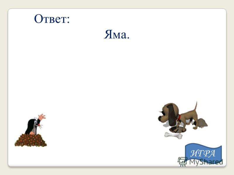 Ответ: Яма. ИГРА