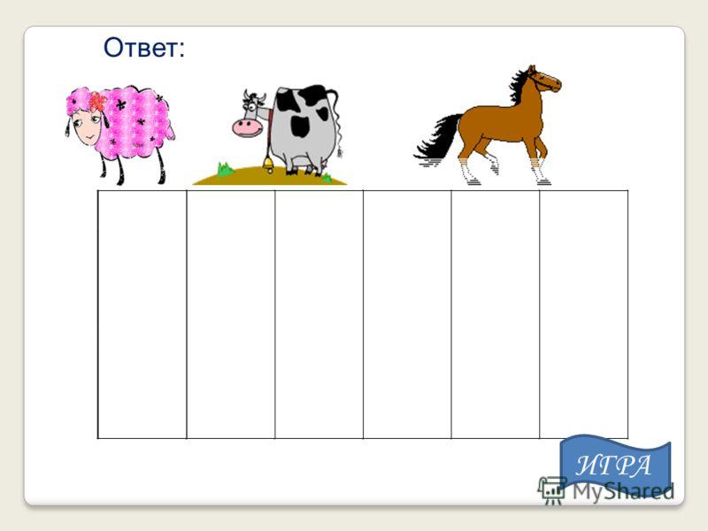 Ответ: ИГРА