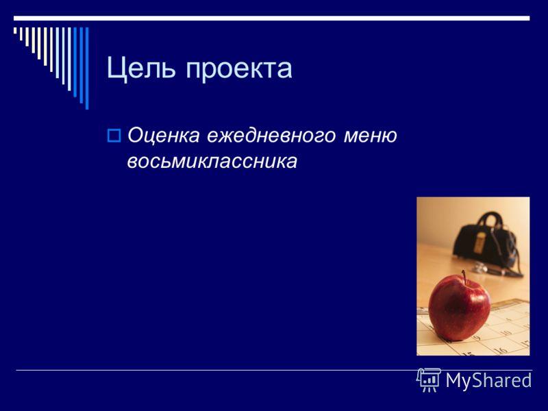 Меню восьмиклассника Авторы: Усатов М.М. Власов Д.А. Леонтьев С.В. Яковлев Д.Ю. ученики 8б класса МОУ СОШ 6