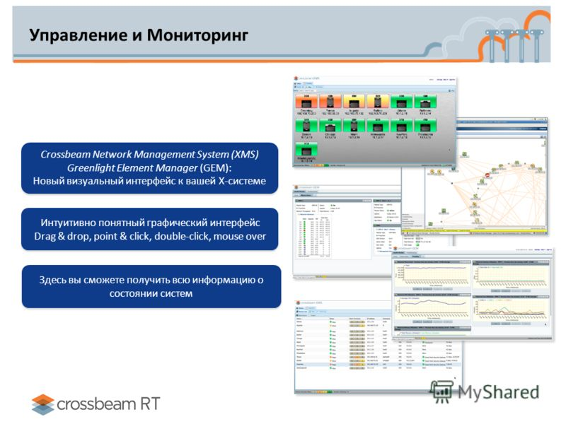 Управление и Мониторинг Crossbeam Network Management System (XMS) Greenlight Element Manager (GEM): Новый визуальный интерфейс к вашей X-системе Crossbeam Network Management System (XMS) Greenlight Element Manager (GEM): Новый визуальный интерфейс к