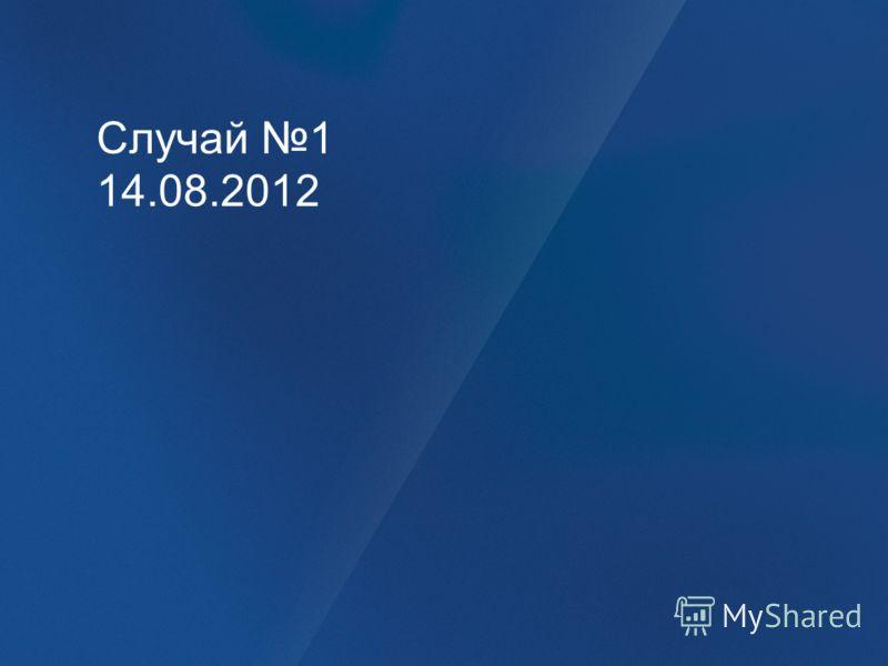 Случай 1 14.08.2012