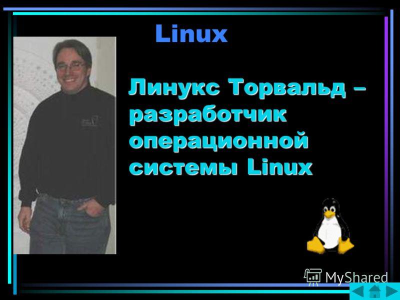 Linux Линукс Торвальд – разработчик операционной системы Linux