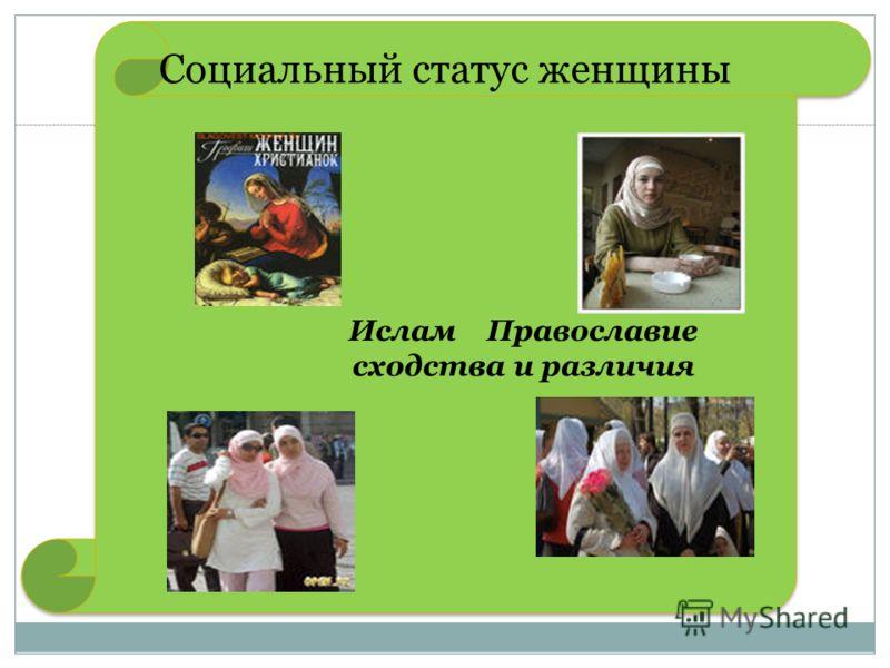 Ислам Православие сходства и различия Ислам Православие сходства и различия Социальный статус женщины
