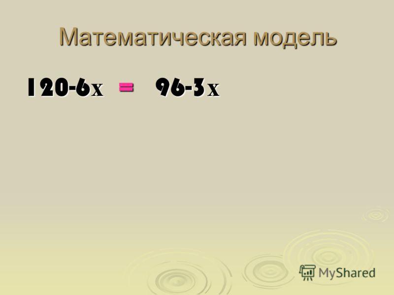 Математическая модель 120-6 х = 96-3 х