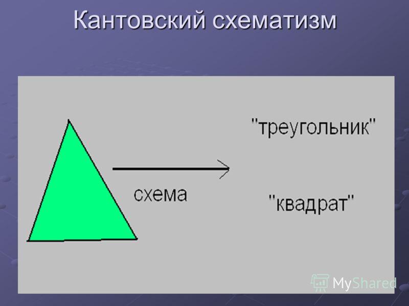 Кантовский схематизм