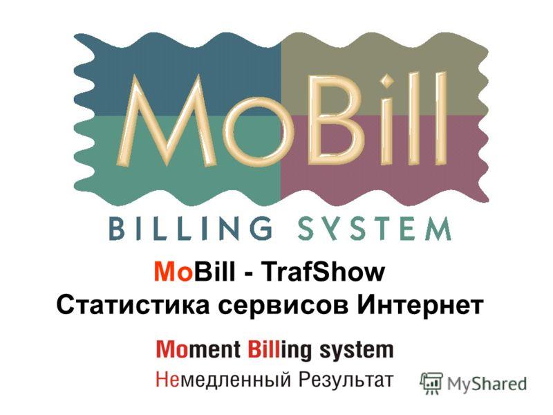 MoBill - TrafShow Статистика сервисов Интернет