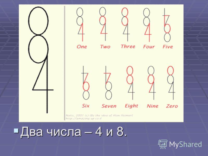 Два числа – 4 и 8. Два числа – 4 и 8.