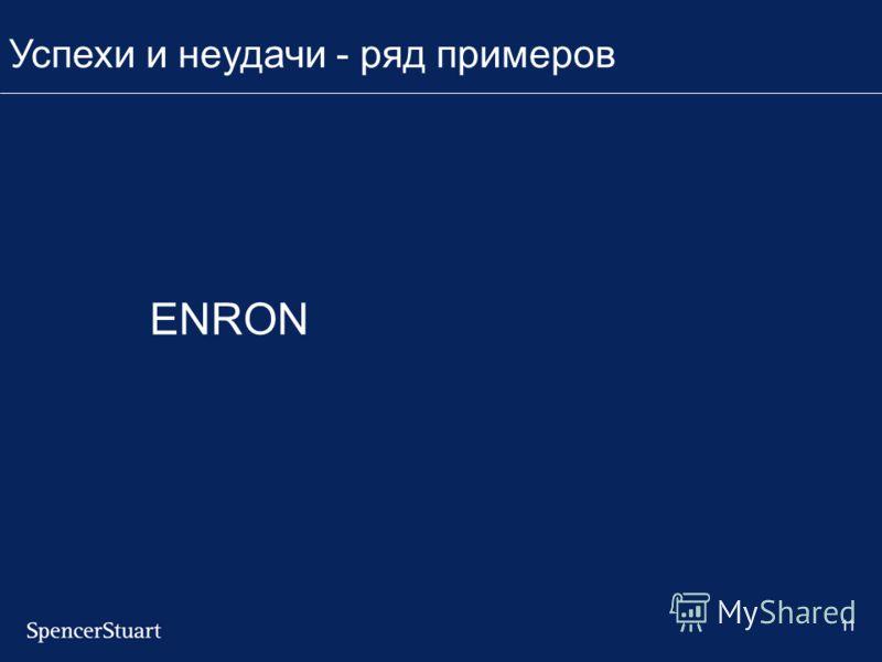 11 ENRON Успехи и неудачи - ряд примеров