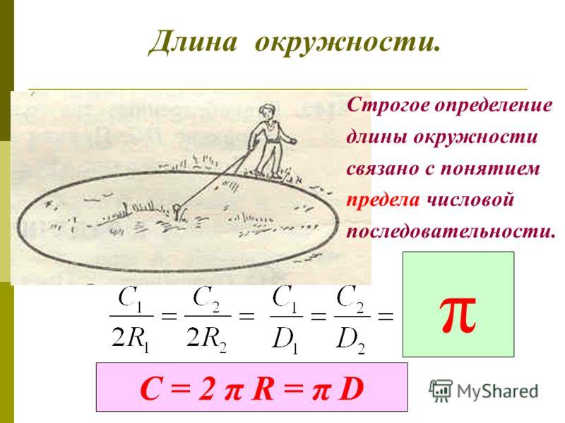 Длина окружности. п – любое число. п = 4 п = 6 п = 8 п => ; Р п => С