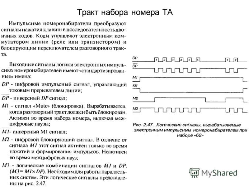 Тракт набора номера ТА
