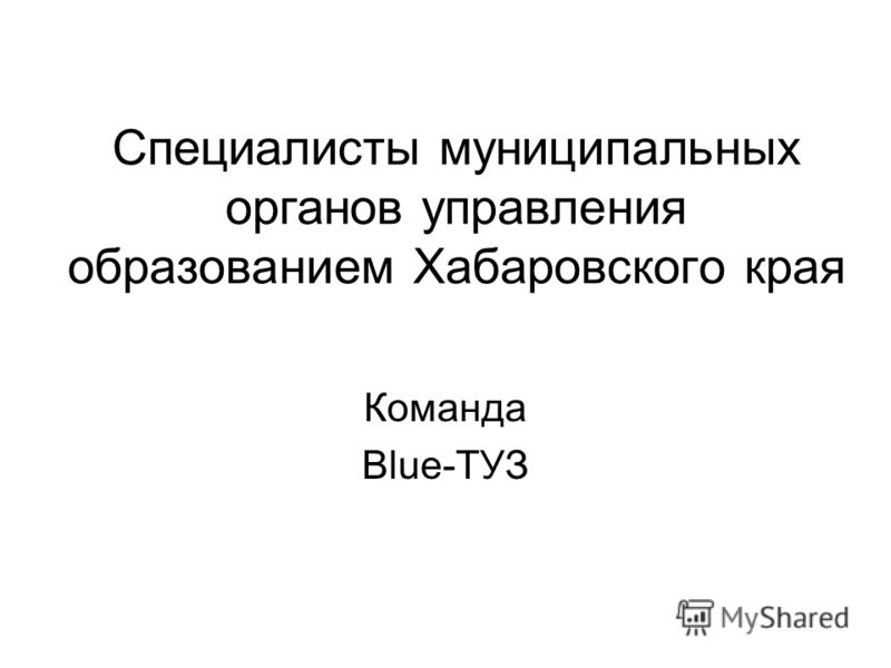 Специалисты муниципальных органов управления образованием Хабаровского края Команда Blue-ТУЗ