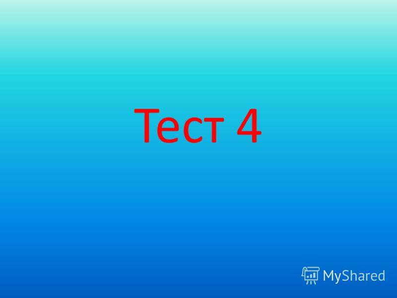 Тест 4